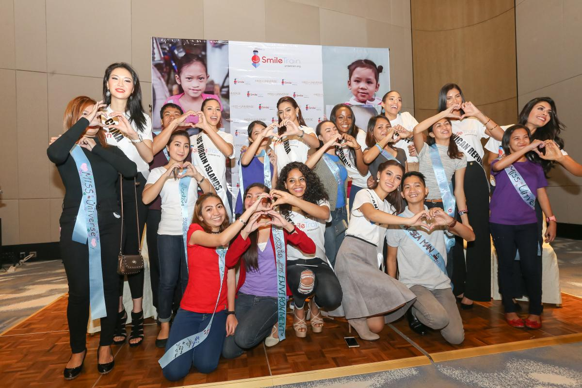 Miss Universe with Cleft Patients
